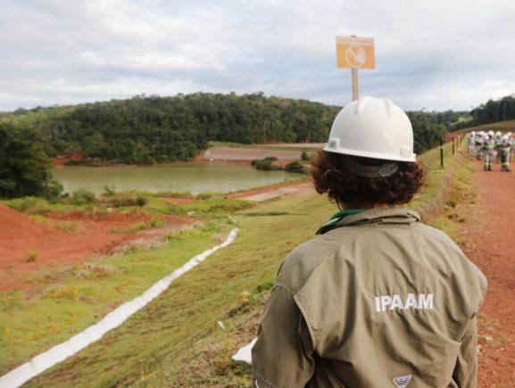 Comitiva de órgãos ambientais e de controle fiscaliza barragens de mineração no Amazonas