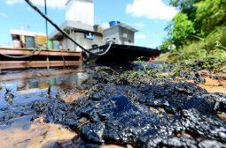 Ipaam acompanha medidas para contenção de vazamento no rio Negro