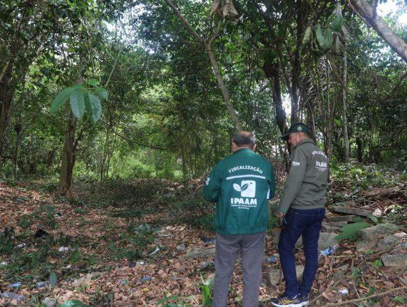 Ipaam fiscaliza área preparada para ser desmatada na Efigênio Salles